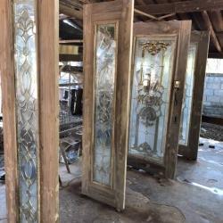 ประตูไม้สักกระจกนิรภัย รหัส NOT11