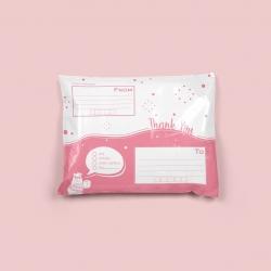 แพค100ใบ_ซองไปรษณีย์พลาสติกจ่าหน้าสีชมพู ขนาด 25*35cm (ขนาดA4)