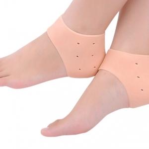 ซิลิโคนถนอมส้นเท้า รองส้นเท้า (สีเนื้อ) : ดูแลส้นเท้าแตก ถนอมดูแลเท้า ปวดเท้า รองช้ำ