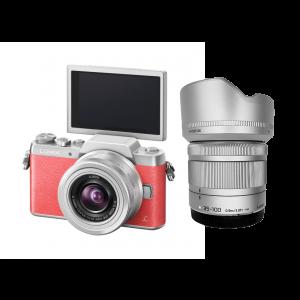 Panasonic GF8 + Lens 12-32 mm OIS + Lens 35-100 mm OIS (Pink)