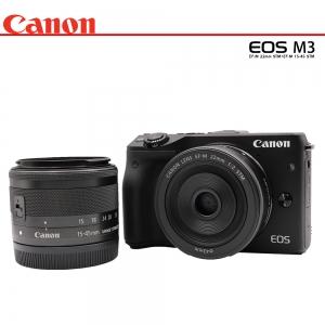 Canon Eos M3 + Lens 22mm STM+15-45 STM (ฟรีSD 16 GB)(สีดำ)
