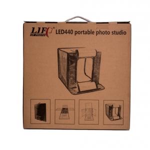 LIFP LED770 portable photo stadio เต้นท์ถ่ายภาพพร้อมไฟ LED ในตัว ขนาด 70*70*70 ซม. พร้อมฉากพีวีซี
