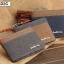 กระเป๋าสตางค์ใบสั้น แนวนอน กระเป๋าสตางค์ผู้ชาย ผ้าแคนวาส สีน้ำตาล thumbnail 2