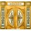 กระจกนิรภัยสเตนกลาส แตงโมเต็มบานสีทอง รหัส G08