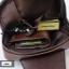 AD6B กระเป๋าสะพายไหล่ กระเป๋าคาดอก หนัง Crazy Horse PU สีน้ำตาลกาแฟ thumbnail 8