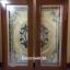 ประตูไม้สักกระจกนิรภัยเต็มบาน สีน้ำเงิน เกรดA รหัส A04 thumbnail 1