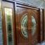 ประตูไม้สักกระจกนิรภัยบานเลื่อน ชุด4ชิ้น รหัสAAA08