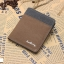 กระเป๋าสตางค์ใบสั้น แนวตั้ง กระเป๋าสตางค์ผู้ชาย ผ้าแคนวาส สีน้ำตาล thumbnail 1