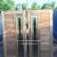 ประตูไม้สักกระจกนิรภัยสไตล์โมเดิร์น เกรดA รหัส AA70