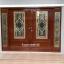 ประตูไม้สักกระจกนิรภัย บานเลื่อน ชุด4ชิ้น รหัส AAA25