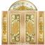 กระจกนิรภัยสเตนกลาส สีทอง ชุด 5ชิ้น รหัส G11 thumbnail 1