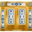กระจกนิรภัยสเตนกลาส สีน้ำเงิน 7ชิ้น รหัส G12