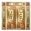 กระจกนิรภัยสเตนกลาสวงรี รางทอง ชุด7ชิ้น รหัส G28
