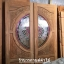 ประตูไม้สักกระจกนิรภัย แกะมังกรหงส์ เกรดA รหัส AA25