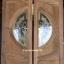 ประตูไม้สักกระจกนิรภัยแกะลีลาวดี เกรดA รหัสAB31