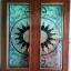 ประตูไม้สักกระจกนิรภัย เต็มบาน เกรดA รหัส A61