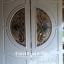 ประตูไม้สักกระจกนิรภัย สีขาว รหัส A116 thumbnail 1