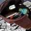 AD5B กระเป๋าสะพายไหล่ กระเป๋าคาดอก หนัง Crazy Horse PU สีน้ำตาลกาแฟ thumbnail 6