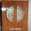 ประตูไม้สักกระจกนิรภัย สีสักทอง เกรดA รหัส A91 thumbnail 1