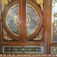 ประตูไม้สักกระจกนิรภัยแกะหงส์มังกร ชุด7ชิ้น รหัส AAA57