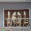ประตูไม้สักกระจกนิรภัยบานเลื่อน ชุด4ชิ้น รหัสAAA35