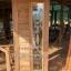 ประตูไม้สักกระจกนิรภัยสไตน์โมเดิร์น เกรดA รหัส AA66