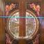 ประตูไม้สักกระจกนิรภัย แกะมังกรหงส์ เกรดA รหัส A56 thumbnail 2