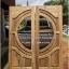 ประตูไม้สักกระจกนิรภัย เกรดA รหัส AA70