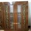 ประตูไม้สักกระจกนิรภัย แกะองุ่น เกรดA รหัส A129 thumbnail 1
