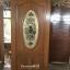 ประตูไม้สักกระจกนิรภัย วงรี เกรดA รหัส A43 thumbnail 1