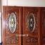 ประตูไม้สักกระจกนิรภัยวงรี แกะองุ่น เกรดA,B+ รหัส A99 thumbnail 1