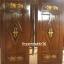ประตูไม้สักบานเดี่ยว แกะช้าง เกรดA, B+ รหัส C50 thumbnail 1