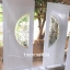 ประตูไม้สักกระจกนิรภัย สีขาว เกรดA รหัส A145 thumbnail 1