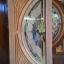 ประตูไม้สักกระจกนิรภัย แตงโมเต็มบาน เกรดA รหัส AA31