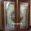 ประตูไม้สักกระจกนิรภัยเต็มบาน สีน้ำเงิน เกรดA รหัส A04 thumbnail 2