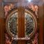 ประตูไม้สักกระจกนิรภัย แกะมังกรหงส์ เกรดA รหัส A56 thumbnail 1