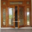 ประตูไม้สักบานคู่กระจกนิรภัยเต็มบานบานเปิด-ปิด ชุด7ชิ้น รหัสAAA12
