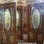 ประตูไม้สักกระจกนิรภัยวงรี แกะองุ่น เกรดA,B+ รหัส A97 thumbnail 3
