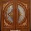 ประตูไม้สักกระจกนิรภัย สีสักทอง เกรดA รหัส A93 thumbnail 1
