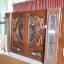 ประตูไม้สักกระจกนิรภัย แกะหงส์,มังกร,ปลาเงินปลาทองเกรดA รหัส NNA177 thumbnail 1