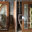 ประตูไม้สักกระจกนิรภัย แกะหงส์มังกร เกรดA รหัส A148 thumbnail 1
