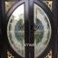 ประตูไม้สักกระจกนิรภัยแตงโมเต็มบาน สีโอ๊ค รหัส AAA126 thumbnail 1