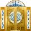 กระจกนิรภัยสเตนกลาส สีน้ำเงิน ชุด5ชิ้น รหัส G20
