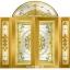 กระจกนิรภัยสเตนกลาส สีทอง ชุด5ชิ้น รหัส G14 thumbnail 1