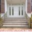 ประตูไม้สักบานคู่กระจกนิรภัยบานเลื่อนโมเดิร์น ชุด7ชิ้น สีขาว รหัสAAA20