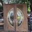 ประตูไม้สักกระจกนิรภัย เกรดA รหัส AA89