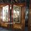 ประตูไม้สักกระจกนิรภัยปีกนก แกะดอกไม้ เกรดA รหัส A03 thumbnail 3