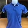 เสื้อโปโลชาย สีน้ำเงินขอบเขียว ไซส์/M/รอบอก38นิ้ว
