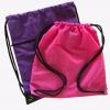 กระเป๋าเป้รูดลายผ้าทูโทน