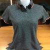 เสื้อโปโลหญิง สีดำขอบชมพู ไซส์/S/รอบอก34นิ้ว
